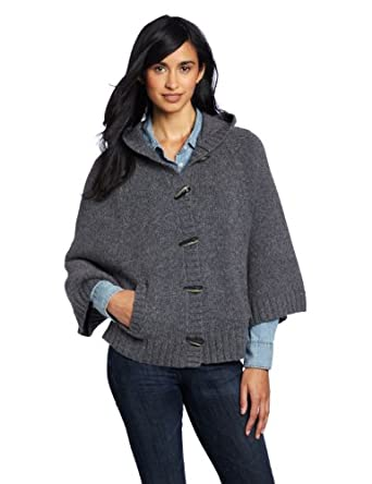 Woolrich Women's Denton Hill Cape Cardigan Sweater, Charcoal, Medium