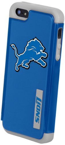Special Sale Forever Collectibles Detroit Lions Rugged Dual Hybrid Apple iPhone 5 & 5S Case