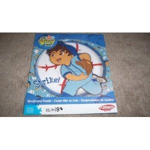 "Nick Jr Go Diego Go! Woodboard Puzzle - ""Strike!"" - Baseball Theme By Playskool"