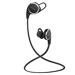 【日本正規品】メーカー1年保証 / QCY QY8 白黒2色 Bluetooth 4.1 ワイヤレスイヤホン マイク内蔵 ハンズフリー 通話 APT-X CSR 8645 CVC6.0 ノイズキャンセリング搭載 防水 / 防汗 高音質スポーツイヤホン 技適認証済 (ブラック)