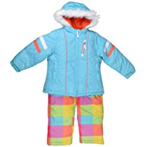 London Fog Girls Hooded Multicolor 2-pc Snowsuit