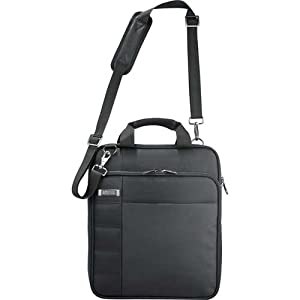 "Kenneth Cole Vert Checkpoint-Friendly 15"" Laptop Messenger Bag- Black by KENNETH COLE"