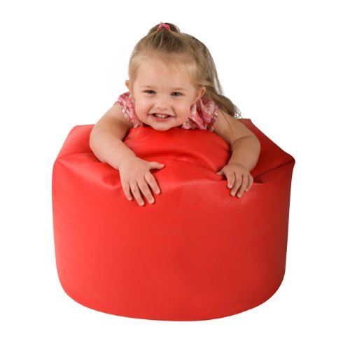 My 1st Bean Bag - Faux Leather Childrens Bean Bags RED - Small Kids Bean Bag