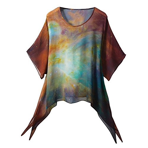 Handpainted Silk Hubble Image Tunic Top - Large/Xl