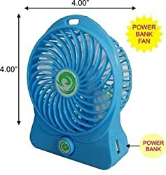 Mini Small Rechargeble Battery Fan Cooling Portable Desktop Air with powerbank