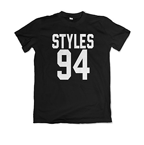 Harry Styles / Styles 94 / One Direction Merch / Magliette / T-shirt / MS18 (M, Nero)