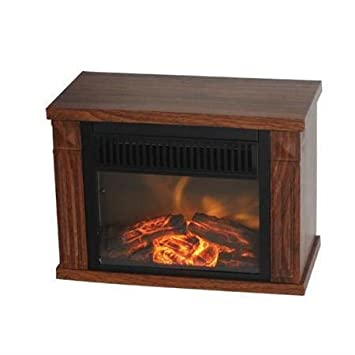 Comfort Glow Mini Hearth Electric Fireplace - Wood Grain - 1200W-2pack