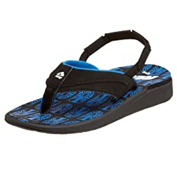 Reef Treasure Chest Sandal (Toddler/Little Kid/Big Kid),Black/Royal,9/10 M US Toddler