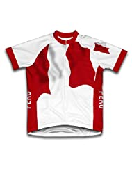 Peru Flag Short Sleeve Cycling Jersey for Women