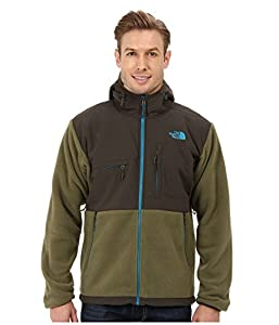 The North Face Denali Hooded Fleece Jacket - Men's Recycled Burnt Olive Green, S
