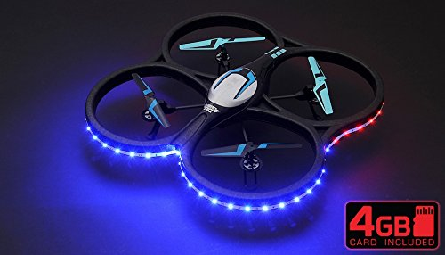 Hero RC XQ-5 V626 UFO Drone with Camera and LED 4 Channel 6 Axis Gyro He