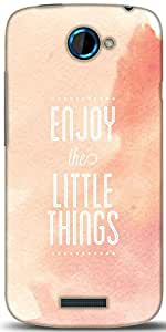 Snoogg Enjoy The Little Things Designer Protective Back Case Cover For HTC One S