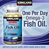 Kirkland Signature Enteric Coated Fish Oil Omega three 1200 MG Fish Oil, 684 MG of Omega 3 Fatty Acids, 180 softgels