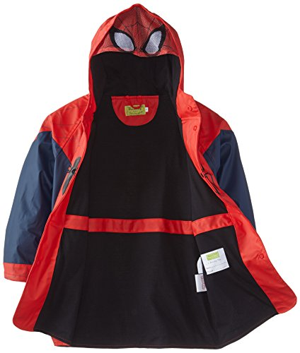 Western Chief Little Boys' The Ultimate Spider-Man Rain Coat, Navy, 3T