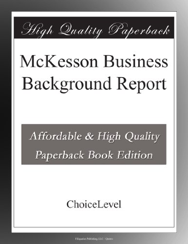 mckesson-business-background-report