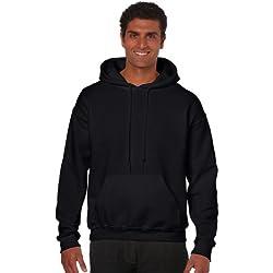 Gildan Heavy Blend Erwachsenen Kapuzen-Sweatshirt 18500, Black, M