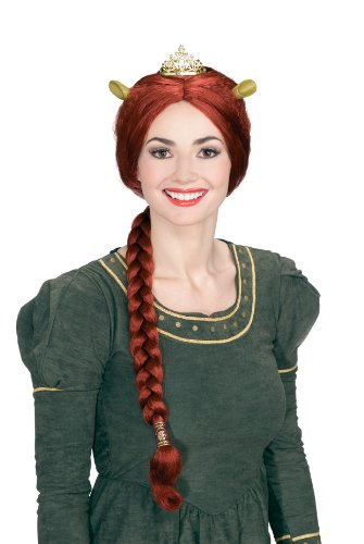 Princess Fiona Wig with Tiara and Ears