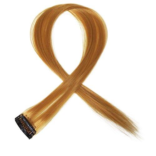 """Bunte Strähnchen 1 x Clip In Extensions 50cm (20"""") Haarverlängerung glatt langhaarHaarteil (21)"""