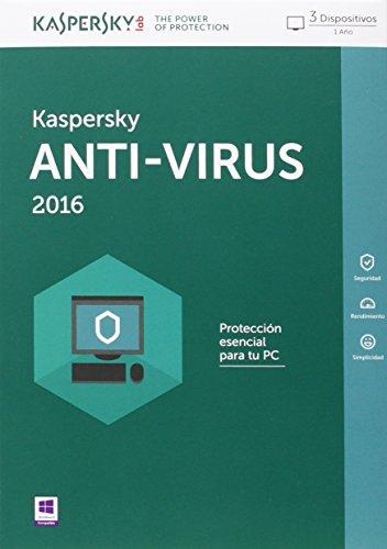 Kaspersky AntiVirus 2016 - Software De Seguridad, 3 Usuarios, Base