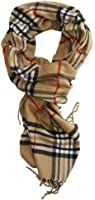 SethRoberts-Classic Cashmere Feel Men's Winter Scarf in Rich Plaids (TAN)