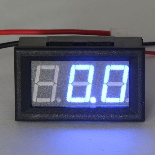 """Riorand 0.56"""" 2-Wires Amperemeter Dc Digital Electric Meter 0 To 100A Ampere Ammeter Led Tester Blue+Shunt"""