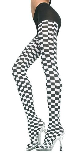 Checkered Racing Flag Tights / Pantyhose