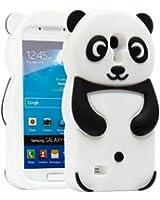 Semoss 3D Panda �tui Coque Housse En Silicone Cover avec Protecteur d'�cran pour Samsung Galaxy S4 mini i9190 i9195 (Noir)