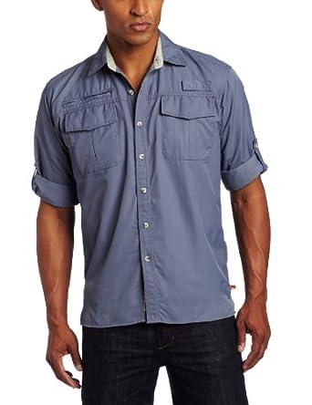 Dakota Grizzly Men's Kenyon Quick-Dry Shirt, Shark, Medium