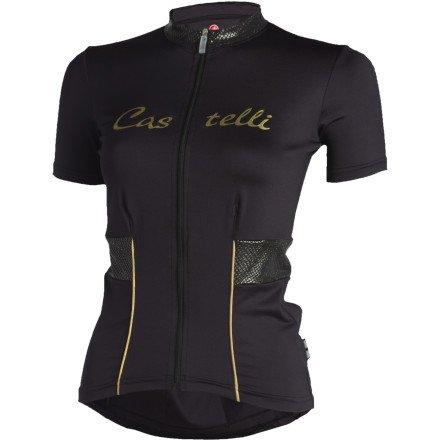 Image of Castelli Coco Full-Zip Short Sleeve Women's Jersey (B007ARZ90W)