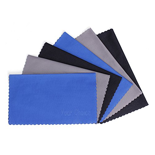 6-Pack-Your-Choice-Microfiber-Cleaning-Cloths-For-EyeglassesCamera-Lens-Cell-Phones-CDDVD-Computers-Tablets-Laptops-Telescope-LCD-Screens-and-Other-Delicate-Surfaces-6x7-2-Grey-2-Black-2-Blue
