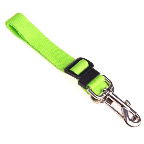 Foxnovo Durable Adjustable Car Vehicle Pet Dog Cat Seat Belt Safety Belt Harness Leash (Green) front-451111
