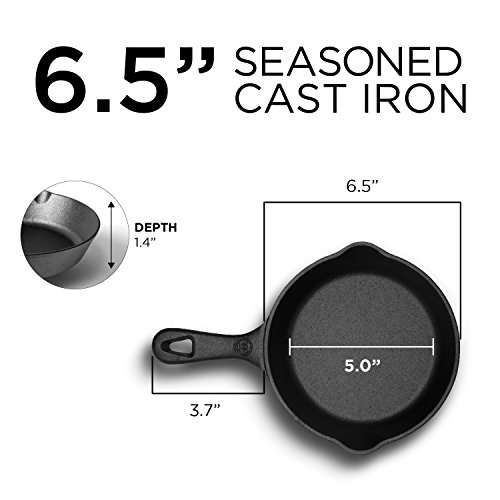 Westinghouse WFL650 Select Series Seasoned Cast Iron 6 1/2 Inch Skillet - Amazon Exclusive