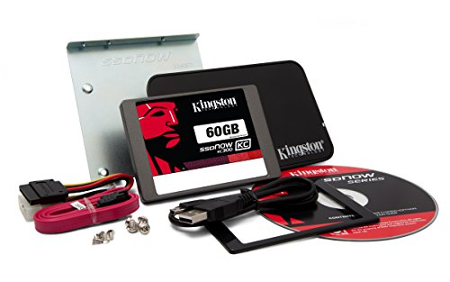 Kingston SKC300S37A/60GB interne 60GB SSD-Festplatte (6,9 cm (2,5 Zoll), SATA III) Kit