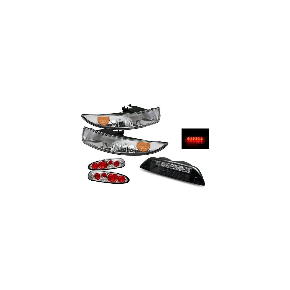 Luminx Lighting LU COMBO 9946 Chevy Camaro Chrome Tail Lights + Bumper Lights + LED 3rd Brake Lights Combo