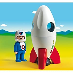 Amazon.com: Playmobil 1.2.3 Moon Rocket 6776: Toys & Games