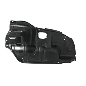 CarPartsDepot, Left (Driver Side) Under Engine Cover Lower Plastic Splash Shield, 429-44100-01 TO1228107 5144206020