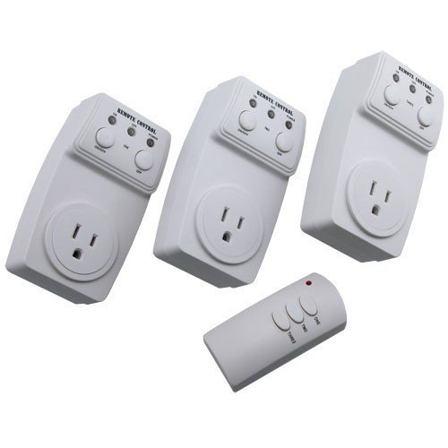 LED Concepts® WRCO3 – 3 Remote Control Outlets With Wireless Remote – Battery Included