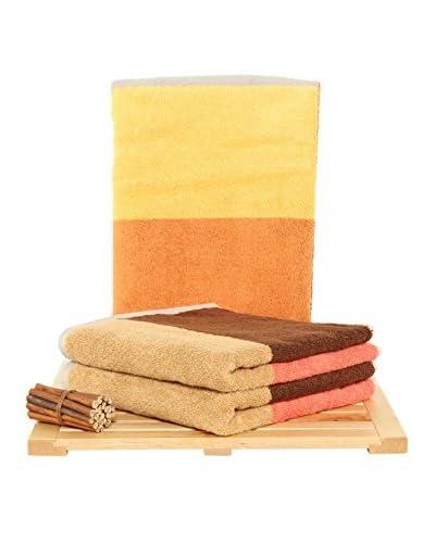 Maisonette Felix 3-Piece Hand Towel Set, Sun