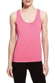 Active Self Striped Vest Top [T51-3026-S]