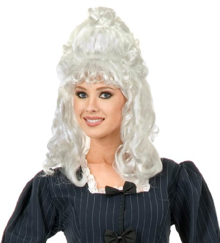 White Colonial Costume Wig - One Size