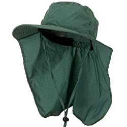 Ladies Wide Brim Summer Sun Protection Flap Hat TEAL