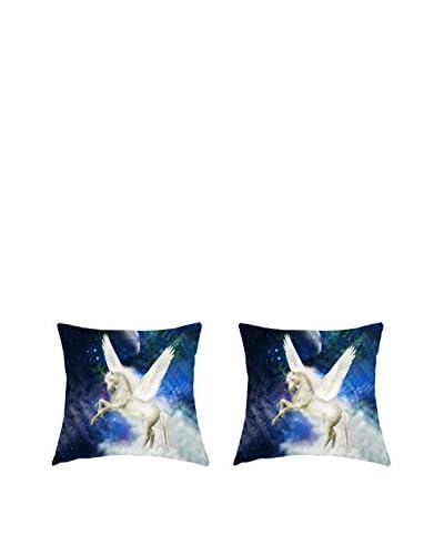 FUNNY BED by MANIFATTURE COTONIERE Kissenbezug 2er Set blau/mehrfarbig