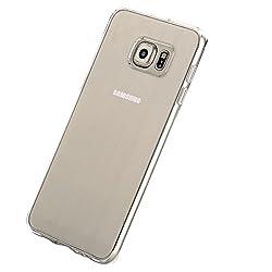Rock Pura Series Hard Transparent Back+Soft Color Bumper TPU Cover for Samsung Galaxy S6 Edge+ (Clear)
