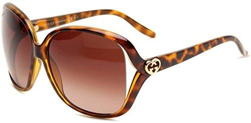 Gucci Women's 3500/S Rectangle Sunglasses,Havana Frame/Brown Gradient Lens,One Size - Gucci