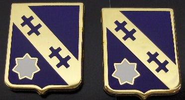140 REGIMENT Distinctive Unit Insignia - Pair