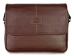 The Clownfish 15.6 inch Laptop and Tablet Bag (Brown)