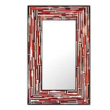 Piaggi Barbarella Red Rectangle Mirror (H110cm x W75cm)