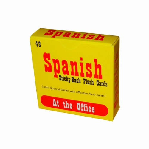 "Spanish Flash Cards - Peel 'N' Stick - ""At the Office"""
