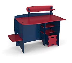 Legare 43-inch Kids Desk With File Cart Navydark Red by Legare