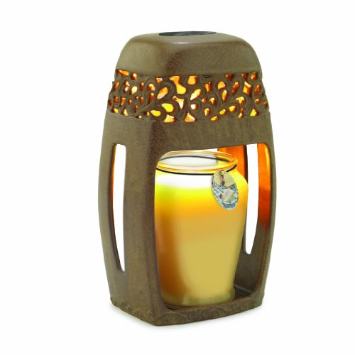 B003IT5KPK Candle Warmers Etc. Ceramic Candle Warmer Lantern, Rustic Brown